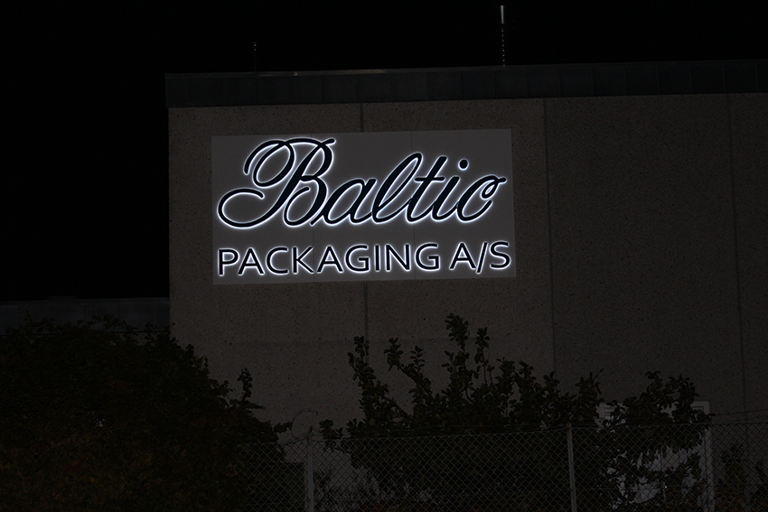 Baltic Packaging A/S - Lysskilt