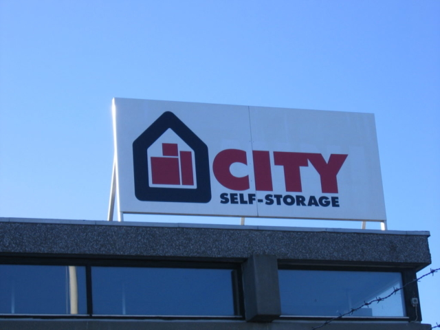 City Self-Storage - Byggepladsskilte